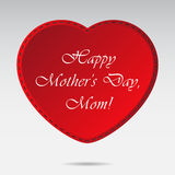 Mothers Day card with red heart Stock Images