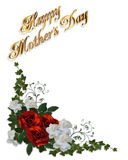 Mothers day card roses stock photography