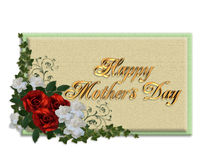 Mothers day card roses Royalty Free Stock Photography