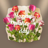Mothers day card with roses. EPS 10 Royalty Free Stock Photo