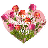 Mothers day card with roses. EPS 10 Royalty Free Stock Photos
