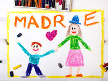 Mothers Day card with word MADRE Royalty Free Stock Photography