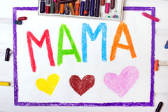 Mothers Day card with word MAMA Royalty Free Stock Photography