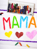 Mothers Day card with word MAMA Stock Photos