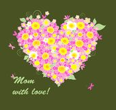 Mothers Day congratulation card Stock Image
