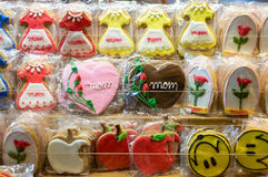 Mothers Day Cookies Stock Photo