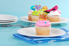 Mothers day cupcakes. Closeup of a Mothers day cupcakes Royalty Free Stock Image