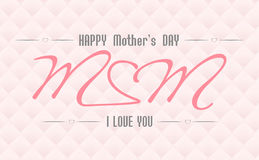 Mothers day1. Design Card. Happy Mothers's Day Stock Photo