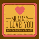 Mothers day design Stock Photography