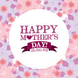 Mothers day. Design, vector illustration eps10 graphic royalty free illustration