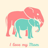 Mothers day elephants Royalty Free Stock Photos