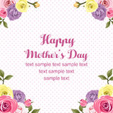 Mothers day flat rose card Stock Photo