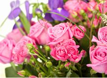 Mothers Day. Flower Bouquet Rose Cut Flowers Gift Royalty Free Stock Photo