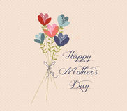 Mothers day Flower Bouquets retro Royalty Free Stock Images