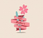 Mothers day flower greeting card royalty free illustration