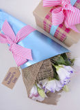 Mothers Day Flowers and Gift Royalty Free Stock Image
