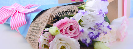 Mothers Day Flowers Social Media Banner Stock Image