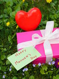 Mothers day gift box royalty free stock photo