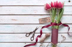 Mothers day gift flowers Stock Photo