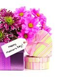Mothers Day gifts and flowers Royalty Free Stock Images