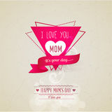 Mothers day Greeting card Royalty Free Stock Images