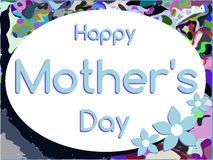 Mothers day greeting card with flowers Royalty Free Stock Image