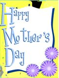 Mothers day greeting card with flowers. Illustration can be used as greeting card for Mothers Day vector illustration