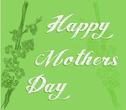 Mothers day greeting card with flowers. Illustration can be used as greeting card for Mothers Day stock illustration