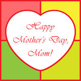 Mothers Day greeting card - with heart Stock Photos