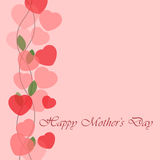 Mothers Day greeting card with hearts Stock Photo