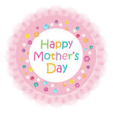 Mothers Day greeting card with lace frame colorful diamonds Royalty Free Stock Images