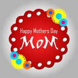 Mothers day greeting card Royalty Free Stock Photo