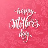 Mothers Day greeting card with pink red floral pattern. Royalty Free Stock Image