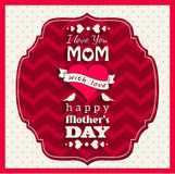 mothers day greeting card Royalty Free Stock Image