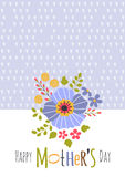 Mothers Day greeting card Royalty Free Stock Photos