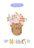 Mothers Day greeting card Royalty Free Stock Photography