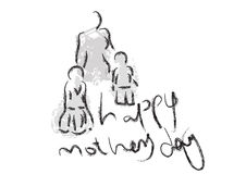 Mothers day greeting - vector. Mothers day greeting art, vector Stock Photography