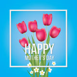 Mothers Day Greeting vector Royalty Free Stock Photos