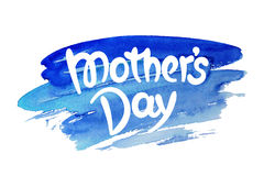 Mothers day hand-drawn lettering Royalty Free Stock Photos