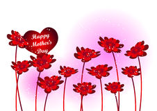 Mothers day. Happy Mothers Day with Flowers. vector illustration vector illustration