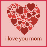 Mothers day. Happy mothers day i love you Stock Illustration