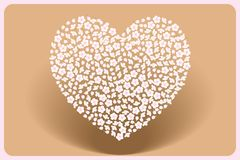 Mothers-day Heart made by cherry blossoms on slipstream. Heart made by cherry blossoms above slipstream - illustration for the Mothers-day or love-messages Royalty Free Stock Images
