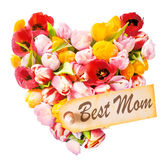Mothers Day heart-shaped greeting Royalty Free Stock Images