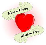 Mothers Day Heart Stock Image