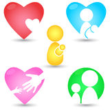 Mother's Day Icons Royalty Free Stock Photos