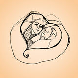 Mothers day illustration Royalty Free Stock Image