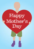 Mothers day illustration Stock Photo