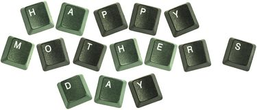 "Mothers day keyboard words. Keyboard keys spelling out the words ""Happy Mothers day Royalty Free Stock Photo"