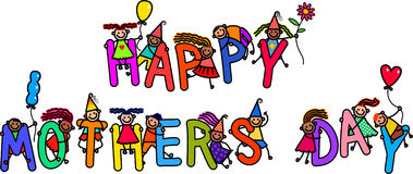 Mothers Day Kids Stock Image