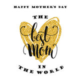 Mothers Day. Lettering design. Stock Photo